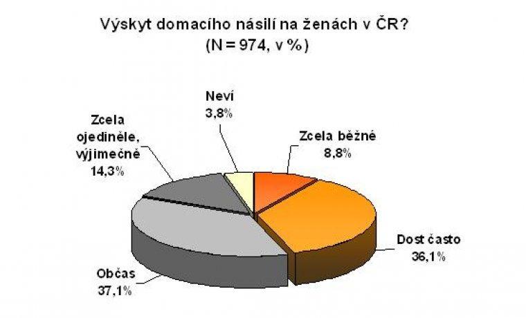 Výskyt domácího násilí na ženách v ČR