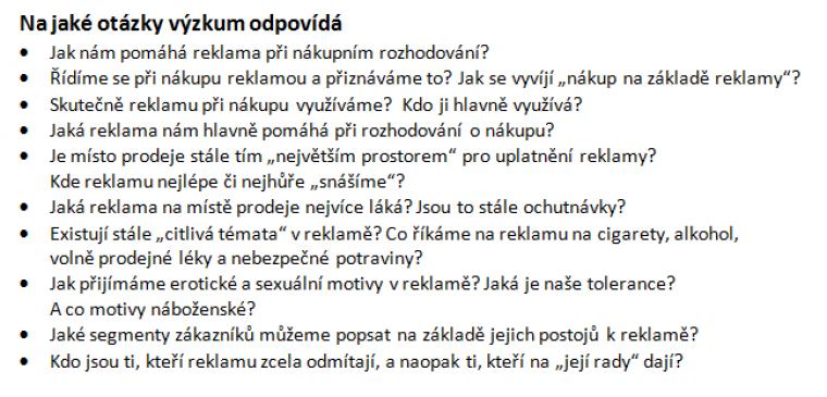 Texty otázek
